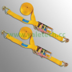 75mm cargo straps with double J hooks 10000kg lashing straps