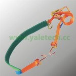 Car Lashing Belts-2parts with Green Tube Grip