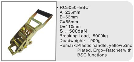 Ergo Ratchet with BSC functions for 50mm ratchet lashing belts