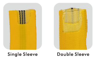 single and double sleeve of round sling